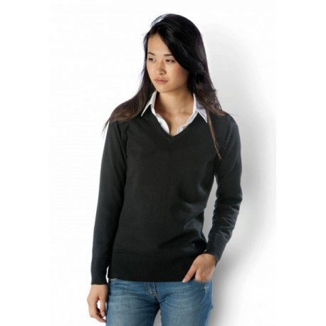 KARIBAN LADIES V-NECK JUMPER