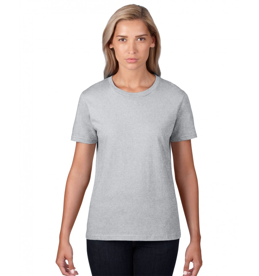 Gildan premium cotton ladies t shirt simple clothing for Gildan t shirts online