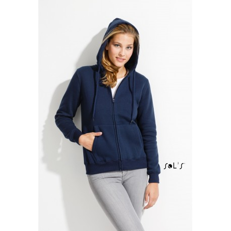 SOL'S SEVEN WOMEN WOMENS CONTRASTED JACKET WITH LINING HOOD
