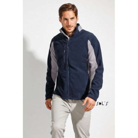 SOL'S NORDIC MENS BICOLOR ZIPPED FLEECE JACKET