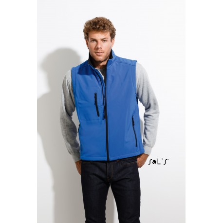 SOL'S RALLYE MEN SLEEVELESS SOFTSHELL JACKET