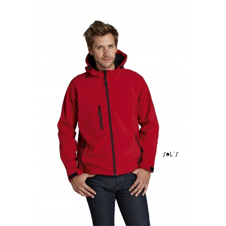 SOL'S REPLAY MENS HOODED SOFTSHELL