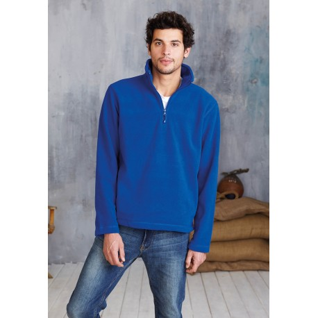 KARIBAN ENZO ZIP NECK OUTDOOR FLEECE
