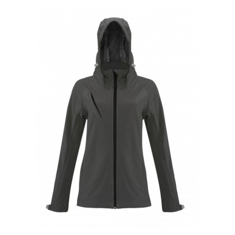 KARIBAN LADIES HOODED SOFTSHELL JACKET