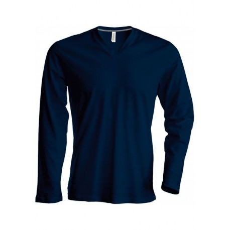 KARIBAN MENS LONG SLEEVE V-NECK T-SHIRT