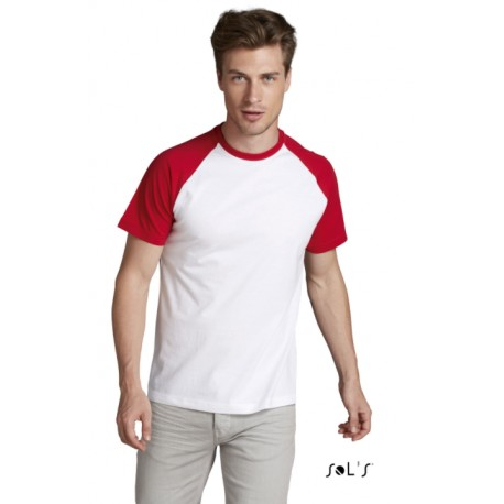 SOLS FUNKY MEN 2-COLOUR RAGLAN SLEEVES T-SHIRT