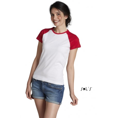 SOL'S MILKY WOMEN 2-COLOR RAGLAN SLEEVES T-SHIRT