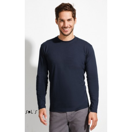 SOL'S MONARCH MEN ROUND COLLAR LONG SLEEVE T-SHIRT