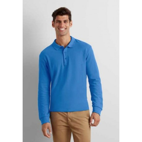 PREMIUM COTTON ADULT LONG SLEEVE DOUBLE PIQUÉ POLO