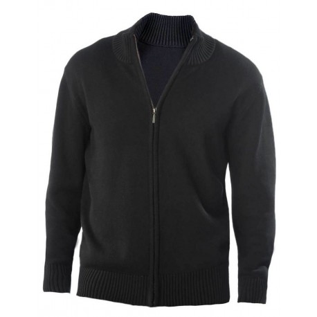 KARIBAN MEN'S FULL ZIP CARDIGAN