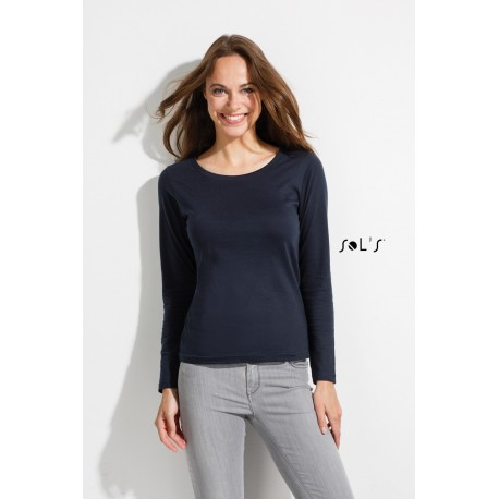 SOL'S MAJESTIC WOMEN ROUND COLLAR LONG SLEEVE T-SHIRT