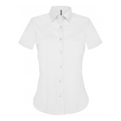 KARIBAN LADIES SHORT SLEEVE EASY CARE STRETCH SHIRT