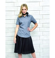 LADIES' SHORT SLEEVE POPLIN BLOUSE