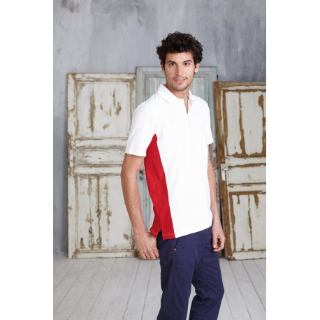 KARIBAN FLAG BI-COLOUR SHORT SLEEVE POLO SHIRT