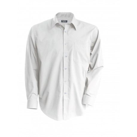 KARIBAN MENS LONG SLEEVE EASY CARE COTTON POPLIN SHIRT