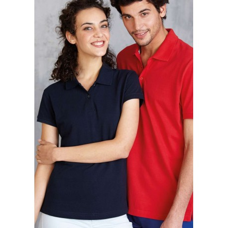 KARIBAN LADIES SHORT SLEEVE PIQUE POLO SHIRT