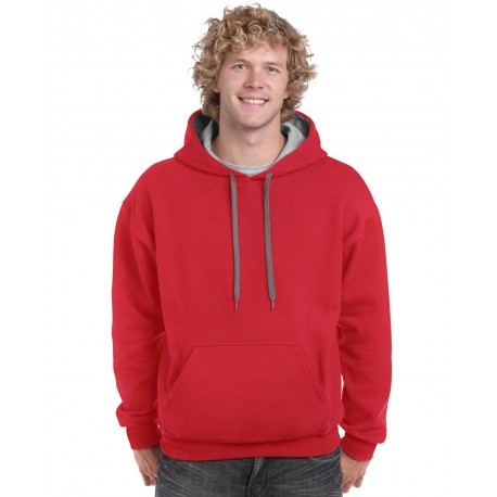 GILDAN® HEAVY BLEND ADULT CONTRAST HOODED SWEATSHIRT