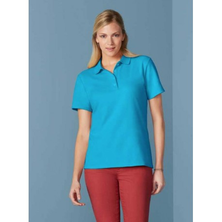 GI64800 SOFTSTYLE ADULT DOUBLE PIQUE POLO