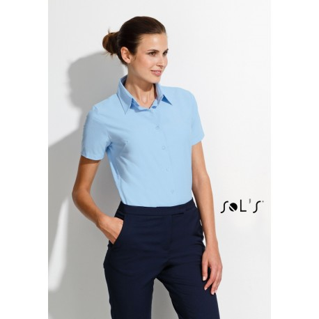 SOL'S ELITE SHORT SLEEVES OXFORD WOMEN SHIRT