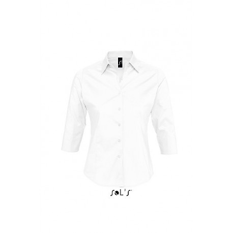 SOL'S EFFECT 3/4 SLEEVES STRETCH WOMEN SHIRT
