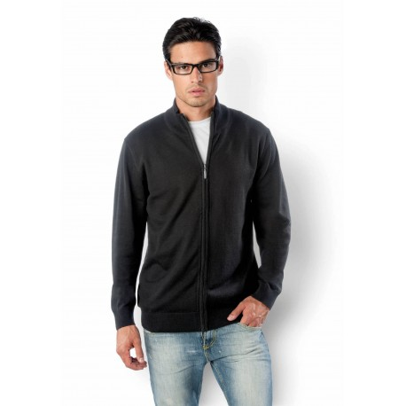KARIBAN MENS ZIP CARDIGAN