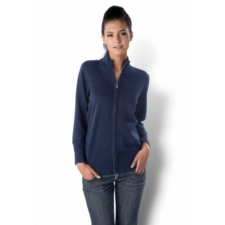 KARIBAN LADEIES ZIP CARDIGAN